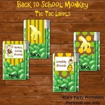 Back to School Monkey – TIC TAC LABELS ------------------------------------------------------ WHAT'S INCLUDED WITH PURCHASE ------------------------------------------------------ PDF file with  - 10 printable tic tac labels that can be printed as many times as you want. Just print on full s...