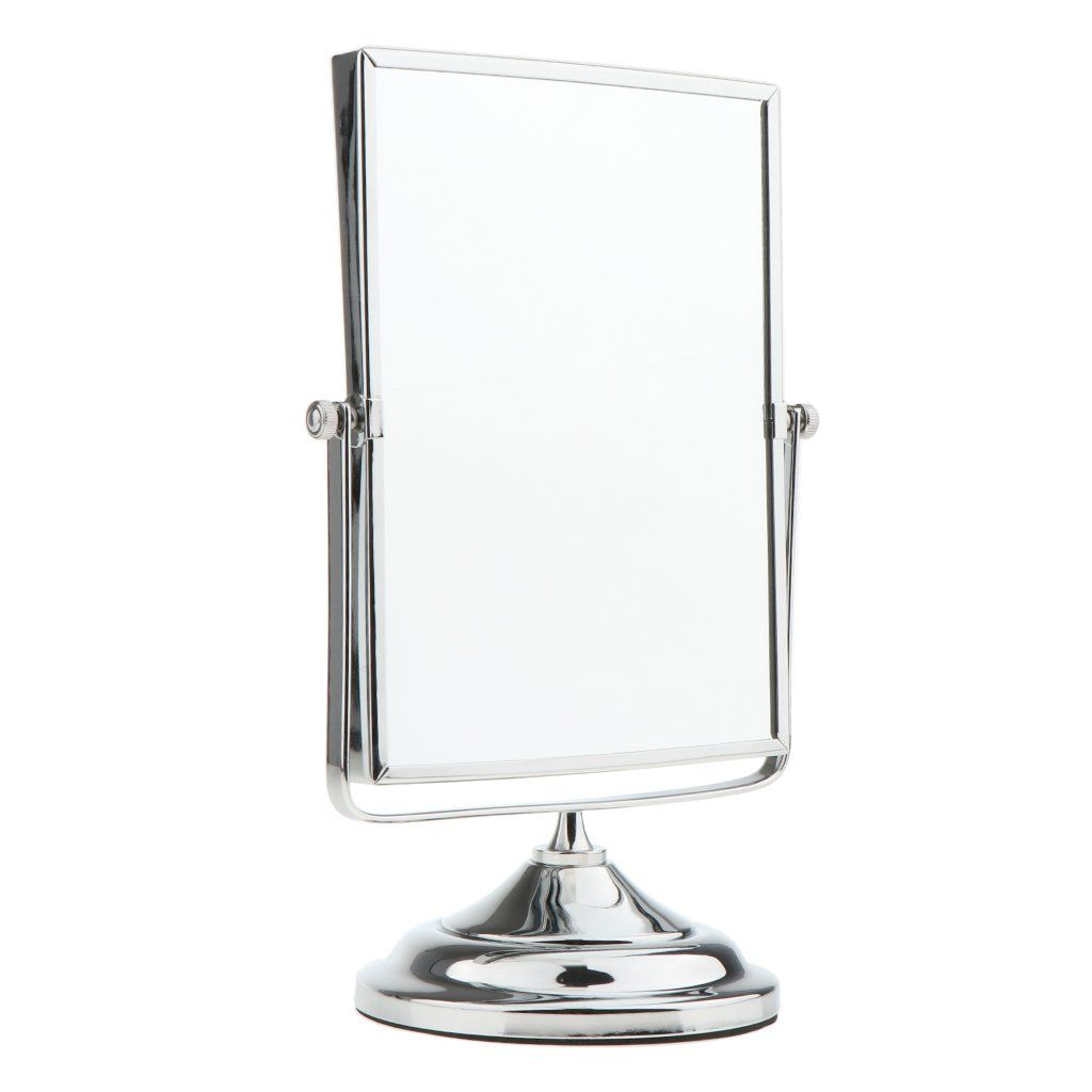 Magideal Dualside 3x And 1x Magnified Swivel Vanity Mirror Tabletop Rectangular Cosmetic Mirror Free Standing Le Bathroom Mirror Bathroom Mirrors Diy Mirror