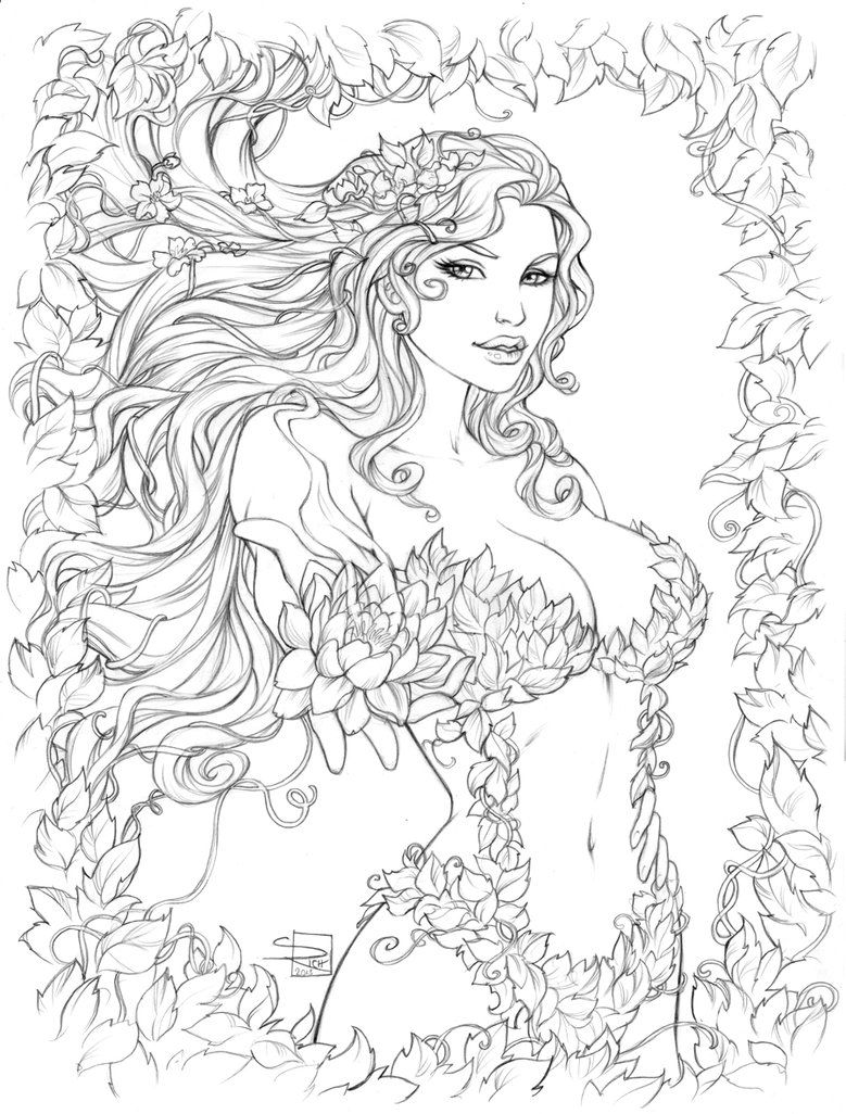 Poison Ivy pencils by Sabinerich on deviantART | Colour Pages ...