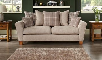 Lois 3 Seater Sofa Scatter Back Sofa Living Room Inspiration Fabric Sofa
