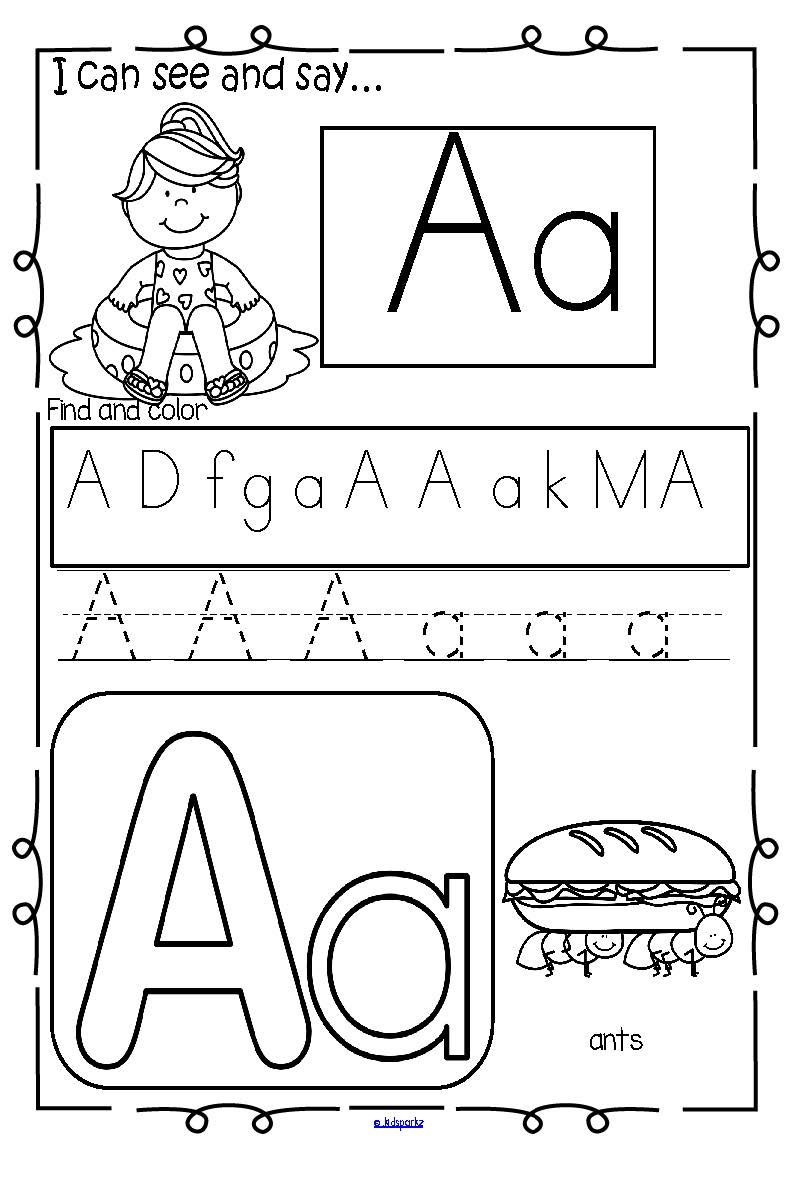 Summer Alphabet Practice Printables - Recognition, Tracing and ...