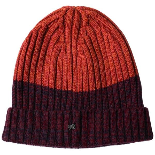 new style 51bb7 67ac9 Lords of Harlech - Benny Beanie in Burgundy   Rust ( 51) ❤ liked on  Polyvore featuring men s fashion, men s accessories, men s hats and mens  beanie hats