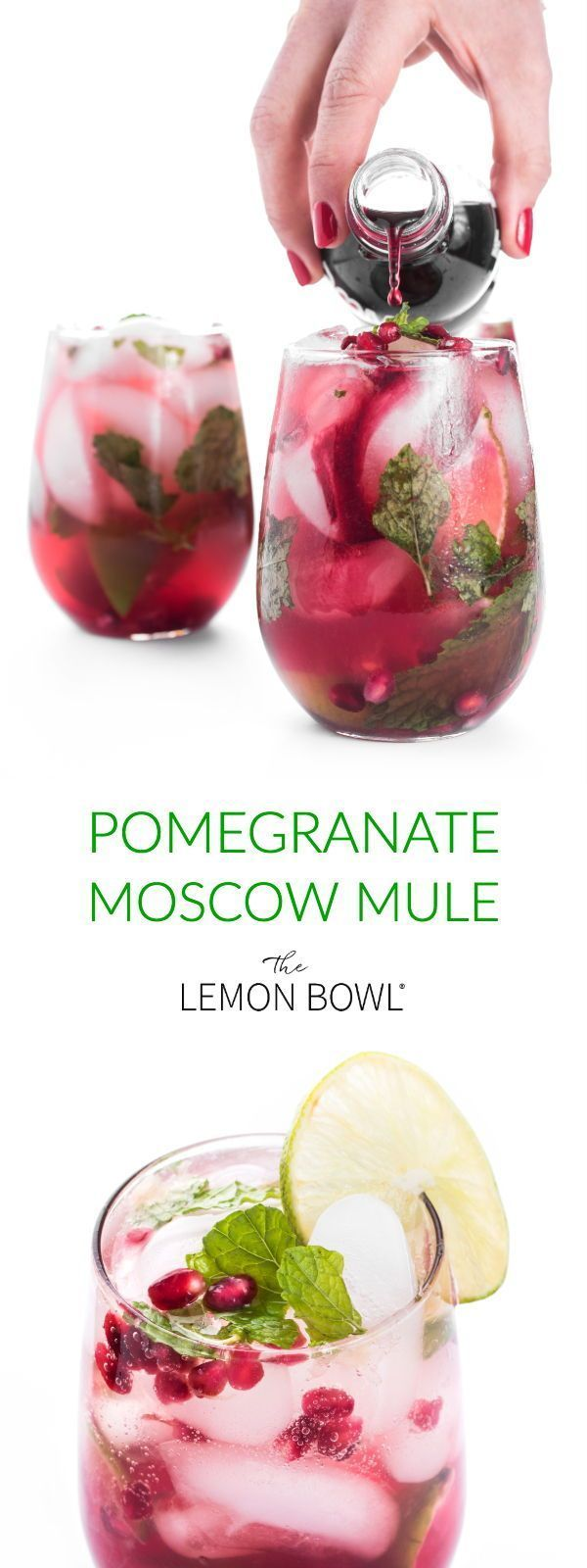 Pomegranate Moscow Mule - The Lemon Bowl® #gincocktailrecipes