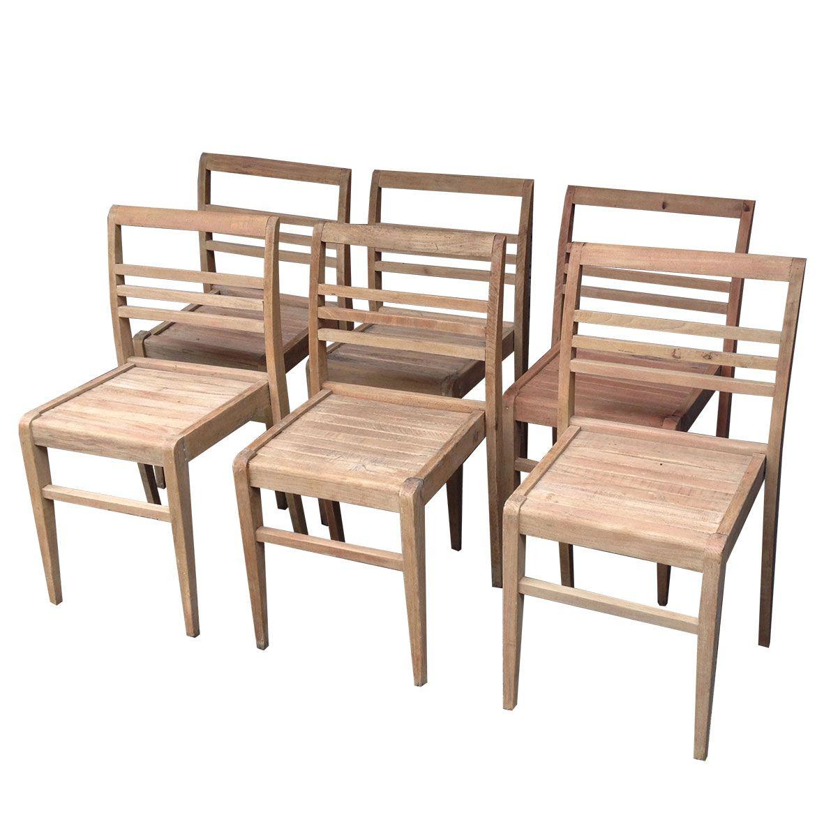 6 chaises René Gabriel (Gamme les Sinistrés) 1948 > Boutique en ligne : www.dedde-art.com