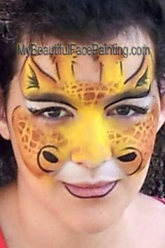 Giraffe face paint Art Kids Face Painting