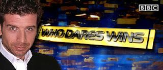 On Thursday, I was thinking of something new to do with my literacy class. Then, all those hours of watching Saturday night television came in useful!    I decided I'd add a game of 'Who Dares Wins' into my lesson.