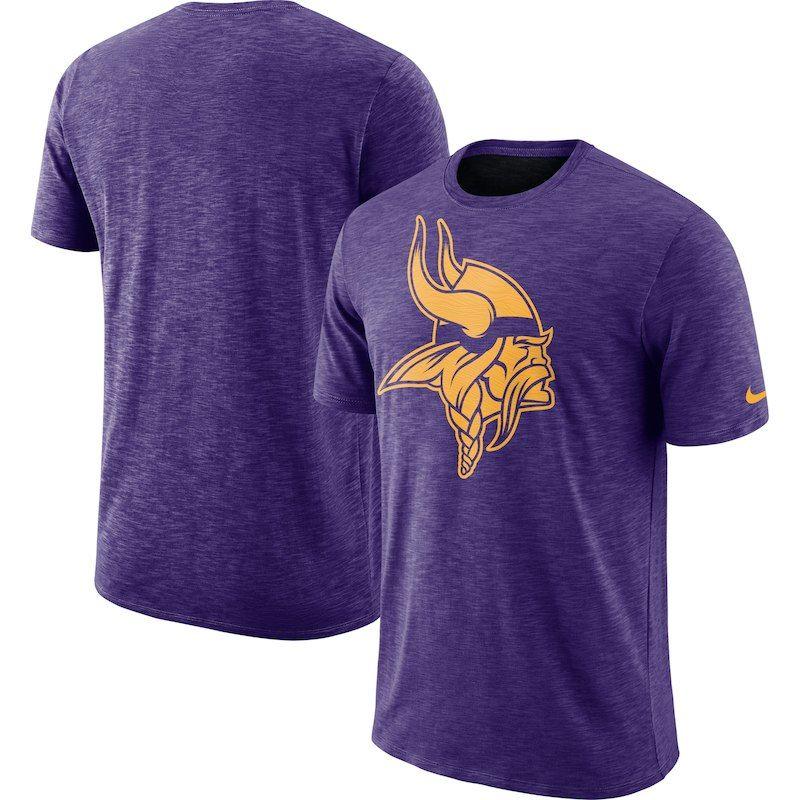 finest selection 33fb2 4d17f Minnesota Vikings Nike Sideline Cotton Slub Performance T ...