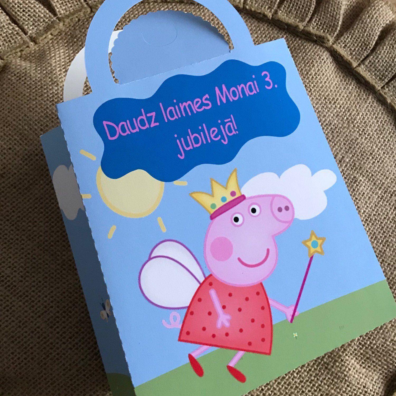 Peppa Pig favour bags Peppa Pig treat bags Costumized Peppa Bag