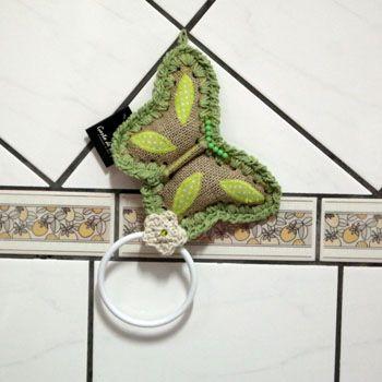 Porta toalha, borboleta www.gostodefazer.com