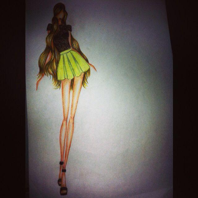 Ilustración #diseño de modas