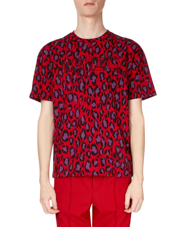 39596446 KENZO MEN'S NEON LEOPARD-PRINT T-SHIRT. #kenzo #cloth # | Kenzo ...