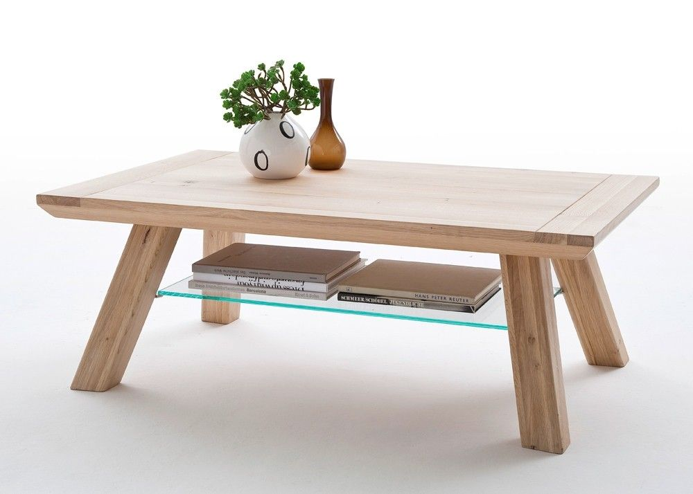 Couchtisch rechteckig Naid Holz Eiche Bianco Buy now at s