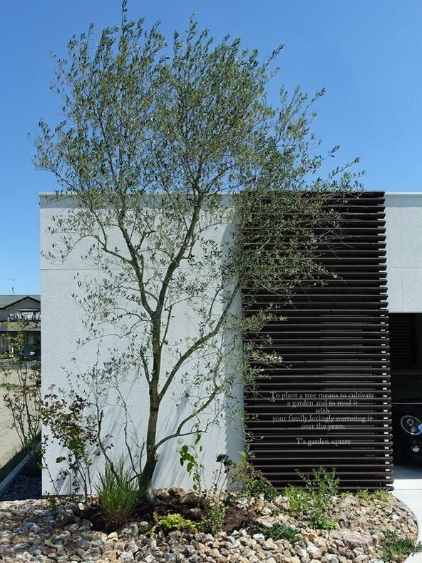 ハイセンスな平屋住まい 建築家と作るオリーブの庭 窓 眺め シェード