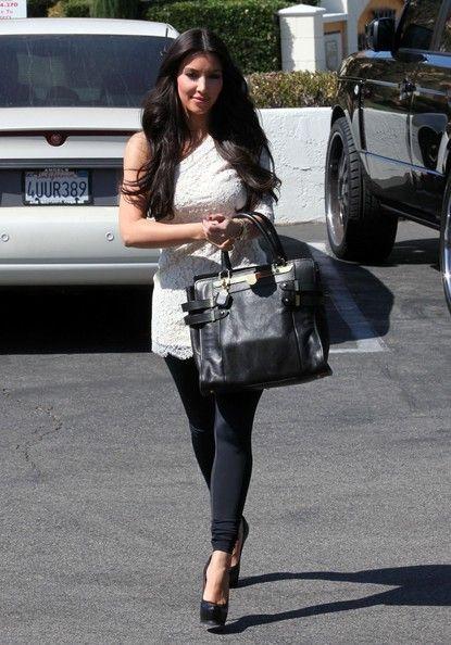 Kim Kardashian Oversized Satchel Handbags Looks Stylebistro