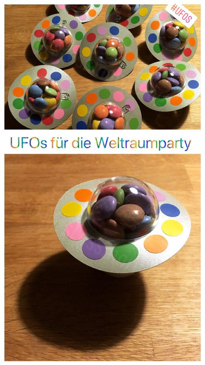 Süße UFOs für den Kinsergeburtstag basteln, für die Candybar oder als Giveaway. Weltall Spaceparty