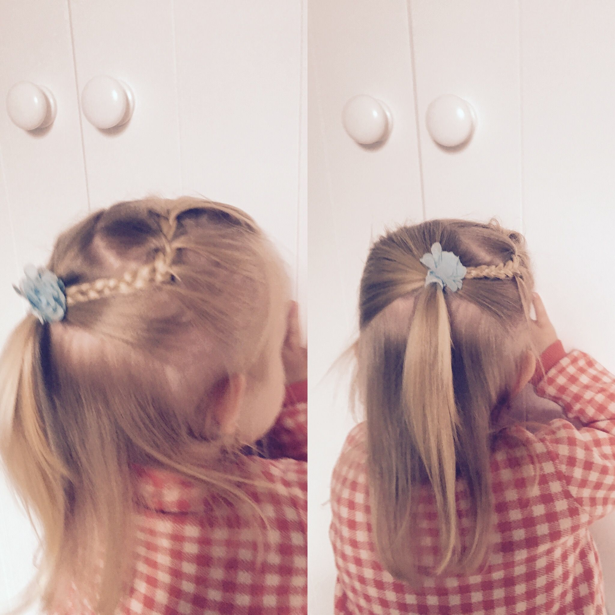 Braid half updo little girl hairstyle toddler girl hairstyles in