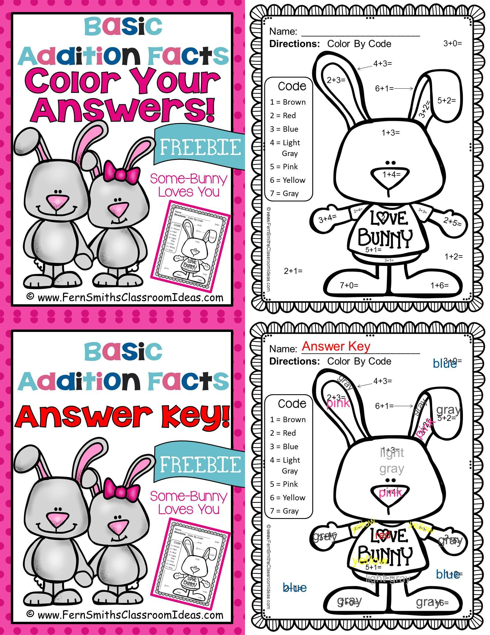 St Valentine S Day Color By Number Addition Freebie