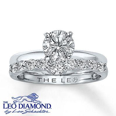 249e1cbc3 Leo Diamond Enhancer Ring 1/2 ct tw Round-Cut 14K White Gold - Kay $1,900  #LeoDiamond #VisiblyBrighter