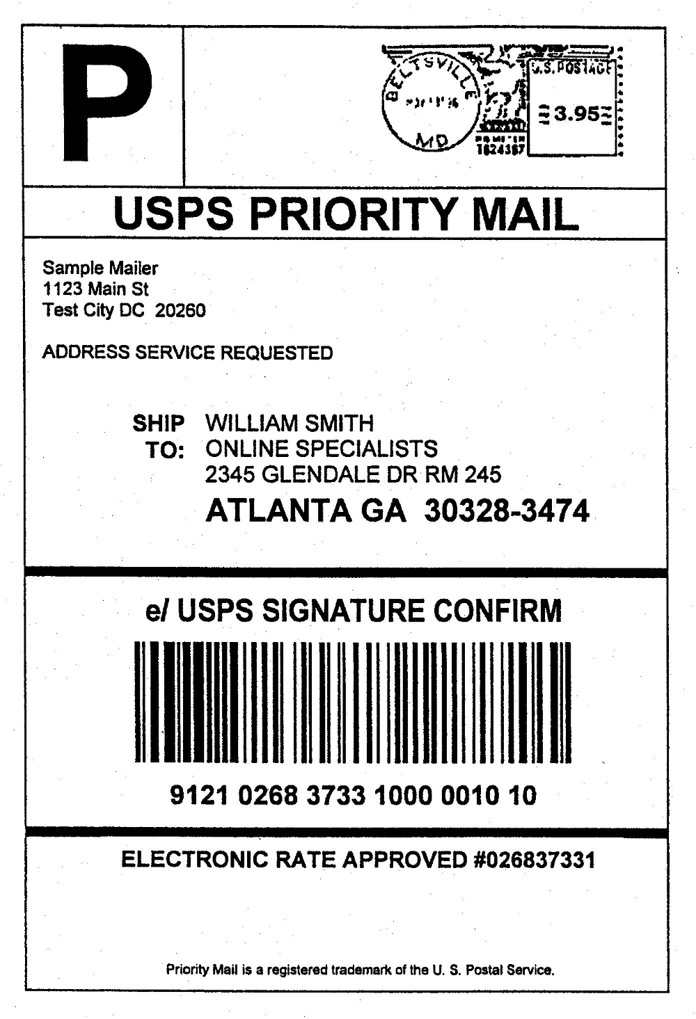 Domestic Mail Manual S Signature Confirmation In Usps Shipping Label Template 10 Professional Template Address Label Template Label Templates Shipping Label