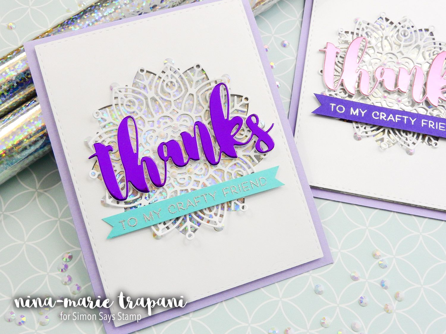Studio Monday With Nina Marie Re Using Gift Wrap For Cards Simon