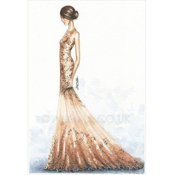 sketches fashion a liked on polyvore