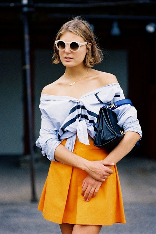 Gorgeous writer Claire Beermann from Cest Clairette, before Alexander Wang, NYC, September 2014....