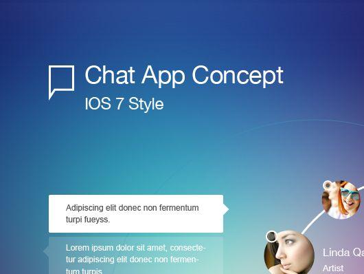 Chat Application Design (Psd) Diseño de app, Disenos de