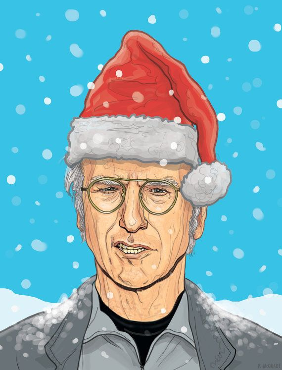 Larry David Holiday Card Cult Art Moviestvpop Culture