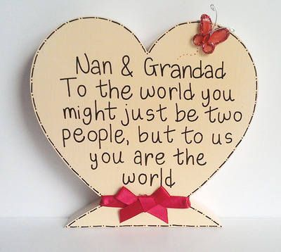 Nan And Grandad personalised heart . | crafty things ...