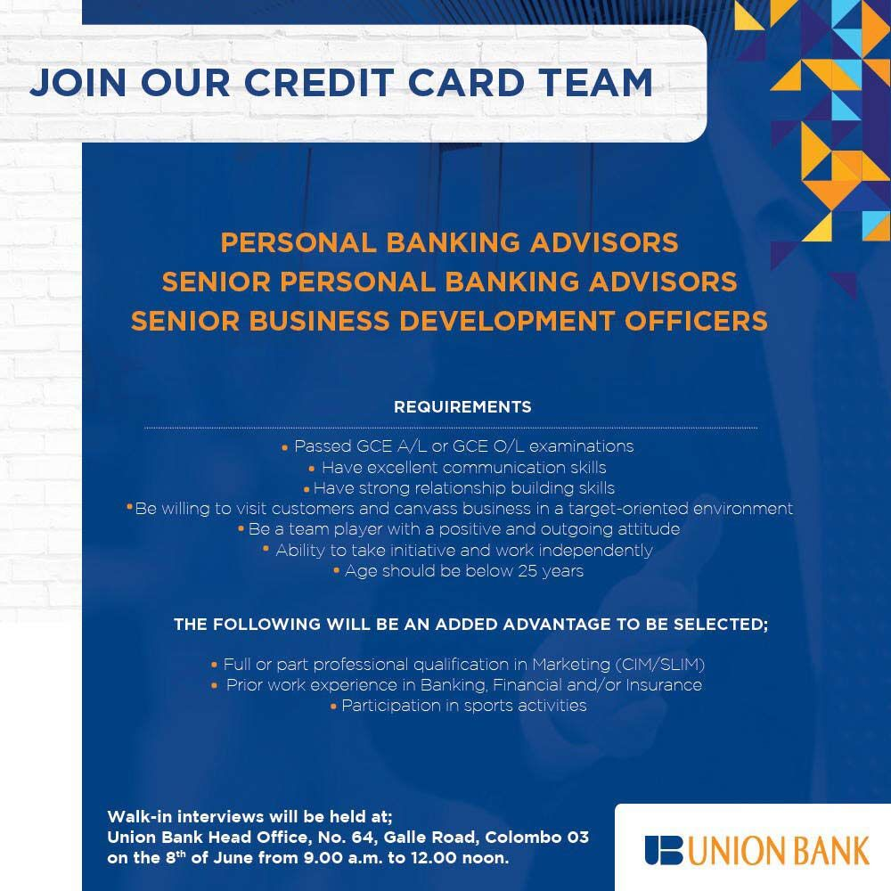 Job Opportunities In Union Bank Union Bank Job Opportunities Job