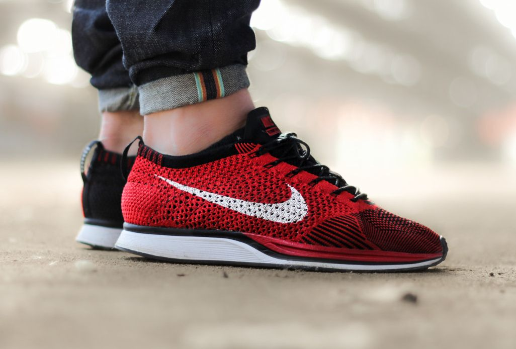47306872b7b0 Nike Flyknit Racer  Red Black
