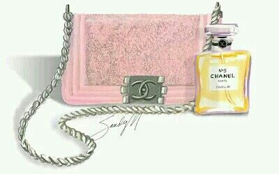 2a91df9c74b8 #Chanel #bag #perfume #cosmetics #accessories #pink #fashion #chic #sac # parfum #cosmétiques #accessoires #girly #illustration - More illustrations  LINE ...