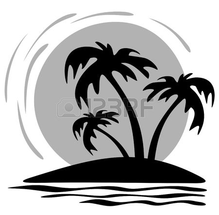30++ Black and white palm tree clipart ideas