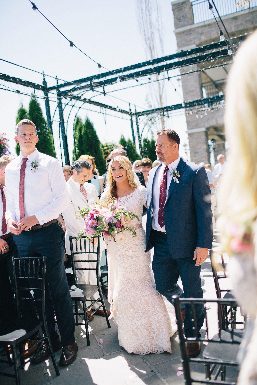 Lindsay Arnold Wedding.Wedding Dancing Down The Aisle