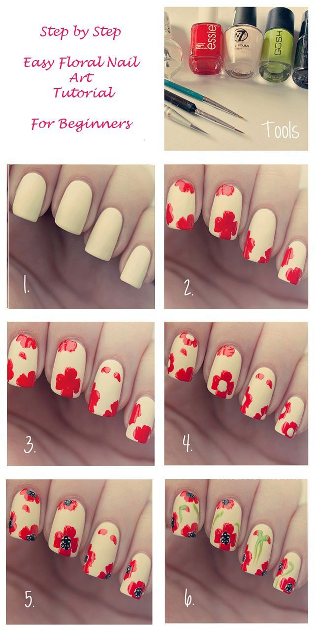 Easy Floral Nail Art Tutorial For Beginners This Is How We Do It