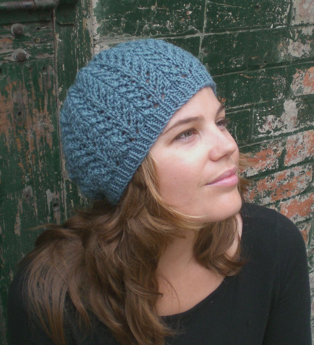 Knitting PATTERN for women, Slouchy Hat Pattern, Knit Beanie Pattern ...