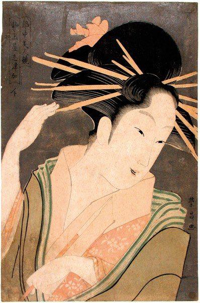UKIYO - E.....1790......BY CHOKOSAI EISHO......PARTAGE OF UKIYO - E......ON FACEBOOK........