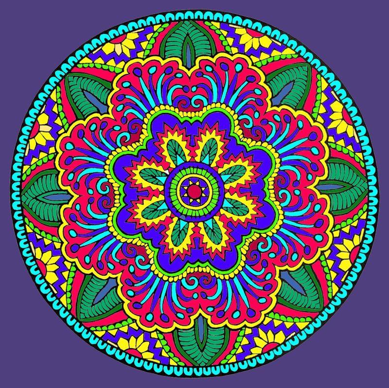 Mystical Mandala Coloring Book Dover Publications