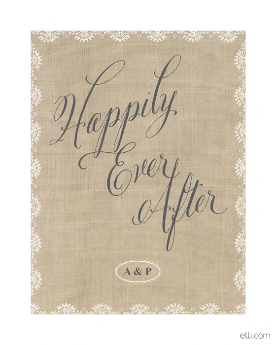 Happily Ever After Wedding Art Print printable Fabulous Freebies - printable wedding anniversary cards
