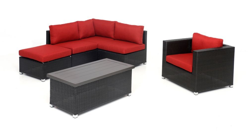 Innesbrook Collection 6 5 With Red Cushions Red Cushions Outdoor Furniture Sets Furniture Sets