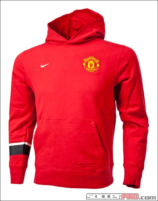 official photos 8454c 988f6 Nike Youth Manchester United Core Hoodie - Diablo Red ...