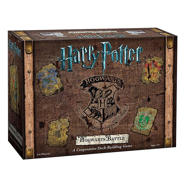 Harry Potter: Hogwarts Battle cleverly mimics the evolution of the characters and their abilities throughout the series. This cooperative deck-building game asks you to take on the role of Harry, Ron, Hermione, or Neville.