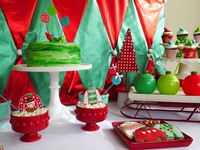 Ugly Sweater Christmas Party Ideas Part - 28: Ugly Sweater Christmas Party On Karau0027s Party Ideas | KarasPartyIdeas.com ...