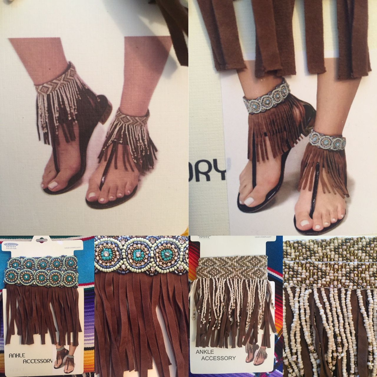 Ankle candy dress up your old sandals or backless heels
