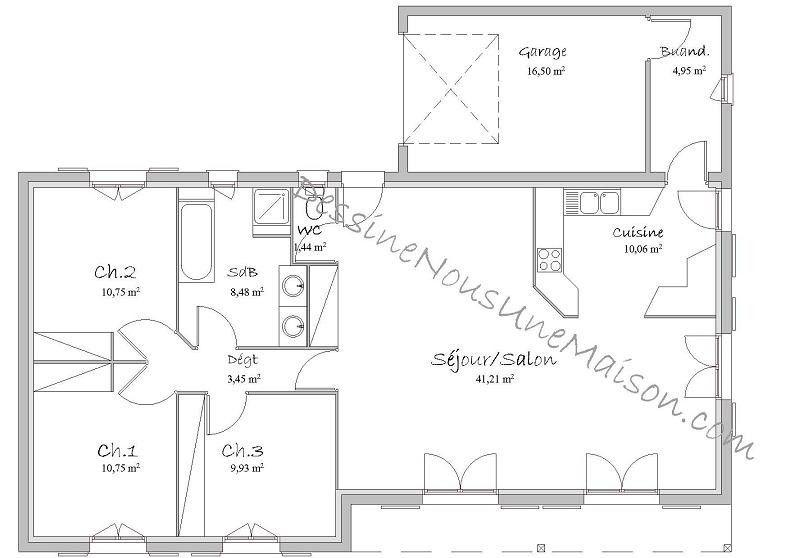Plan Construction De Maison En U Plans De 2