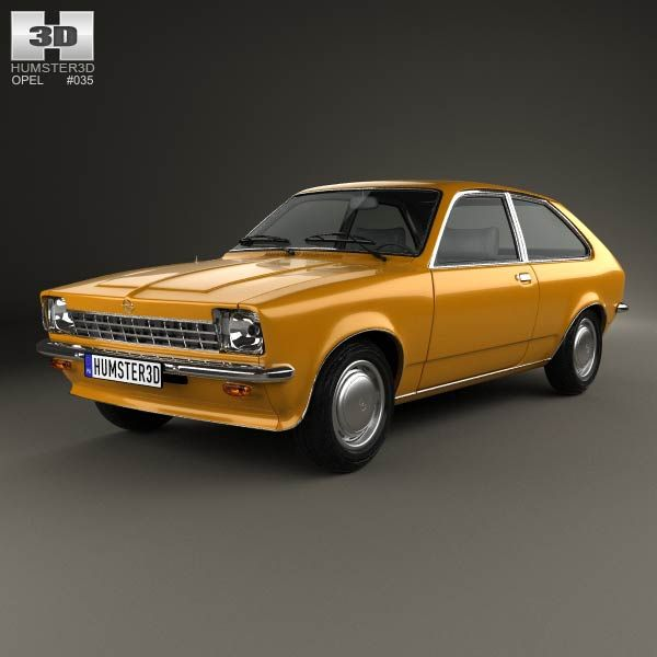 Bmw Z4 Fastback: Opel Kadett City 1975 3d Model From Humster3d.com. Price