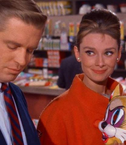 Audrey with George Pepard in Breakfast At Tiffany's (1961)