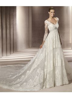 Save 85% on Empire Waist Wedding Dresses With Lace 2013