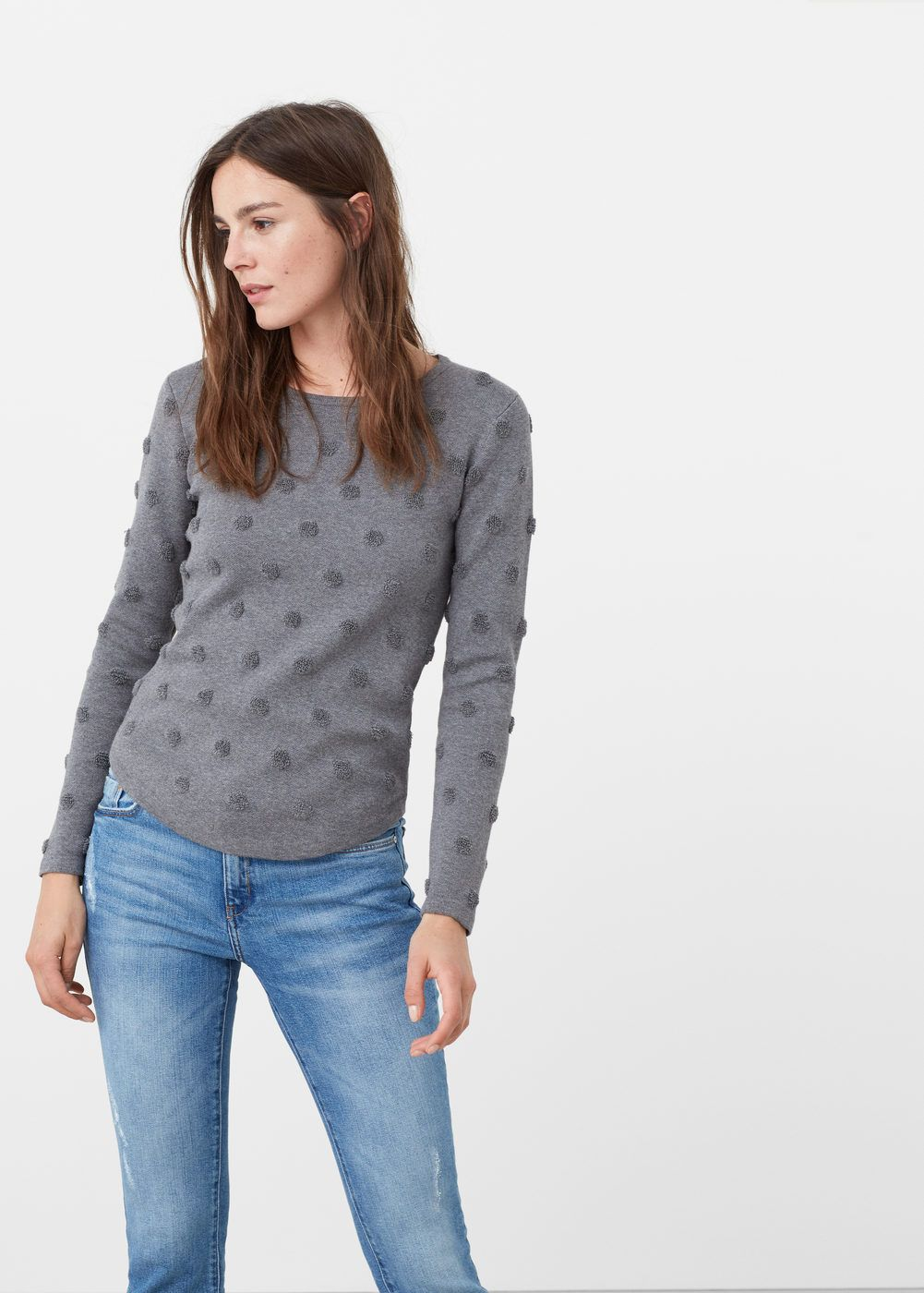 6beda2db9dc1 Pull-over à pois relief - Femme
