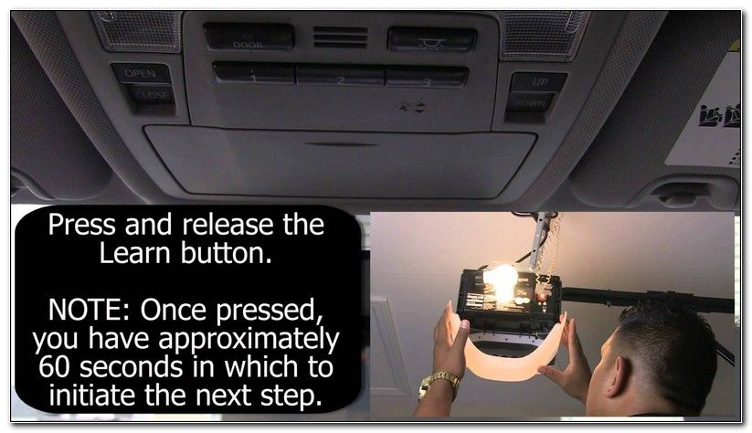 Programming Toyota Garage Door Opener Without Remote Garage Door Opener